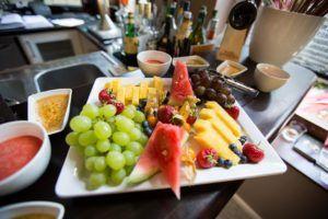Obst- und Dessertbuffet des Sonntagsbrunch im Restaurant Stresa